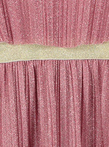 Pink Pleated Sparkle Dress (3-12 years)