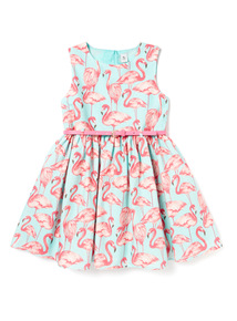 Multicoloured Flamingo Occasion Dress (3-14 years)