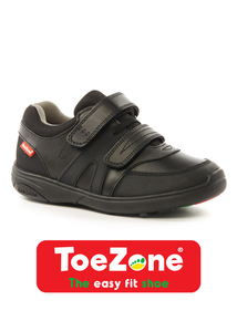 ToeZone Coated Leather Smart Trainers