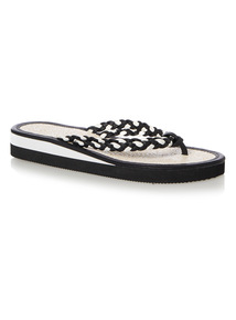 Sporty Seagrass Wedge Flip-Flops