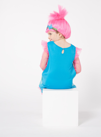 SKU AW17 TROLLS WITH WIGBlue  sc 1 st  Tu clothing & Fancy Dress Pink and Blue Trolls Costume (3-8 years) | Tu clothing