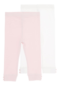 Ribbed Leggings Pack of 2 (0-24 Months)