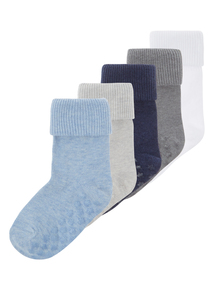 Boys Blue Socks 5 Pack (0-24 months)