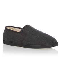 Grey  Enclosed Back Slippers