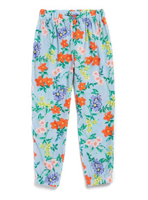 Multicoloured Floral Stripe Harem Trousers (3-14 years)