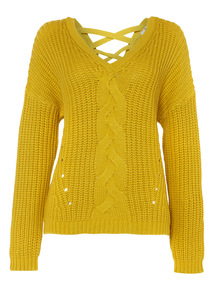 Lime Cross-Back Cable Jumper
