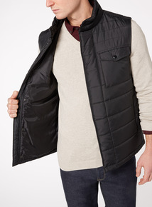 Black Quilted Thermolite Gilet