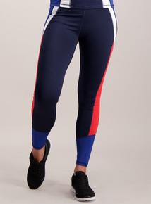 Active Multicoloured Panelled Leggings