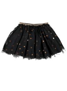Black Tulle & Sequin Skirt (3 - 14 years)