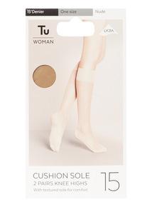 2 Pack Cushion Sole Knee High Socks
