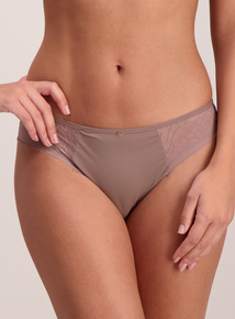 Brown Lace Brazilian Knickers