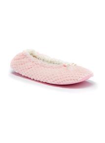 Pink Waffle Ballerina Slipper