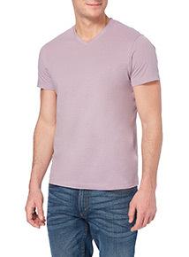 Online Exclusive Lilac V-neck T-shirt