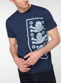 Official England Navy Football T-Shirt