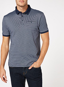 Navy Cross Dye Polo