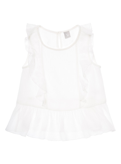 White Woven Top (3-12 years)