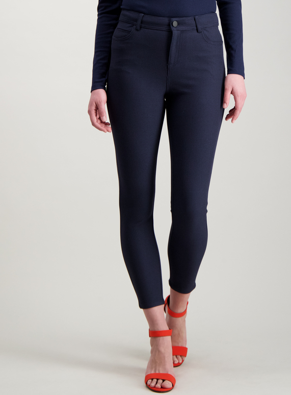 Womens Blue Check Tapered Trousers Tu Clothing