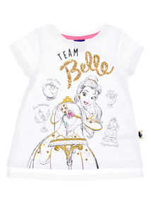 Girls White Beauty and the Beast Disney Tee (1 - 6 years)