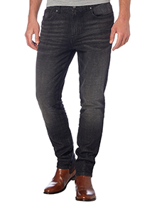 Black Wash Skinny Stretch Denim Jeans
