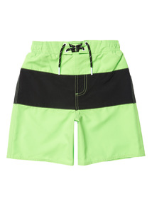 Boys Multicoloured Neon Green Swim Shorts (1 - 14 years)