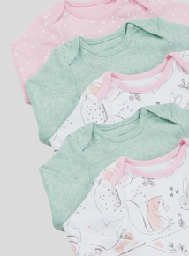 Multicoloured Winter Animals Bodysuits 5 Pack (newborn-36 months)
