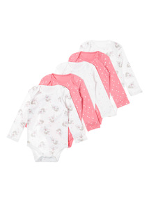 Pink Five Pack Fairy Bodysuit (0-3 years)