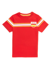 Red Active Football Spain Top (3 - 12 years)