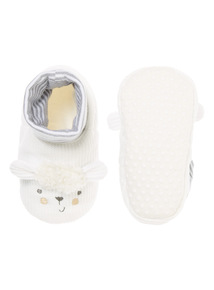 Unisex Sheep Sock Top Slippers (0-18 months)
