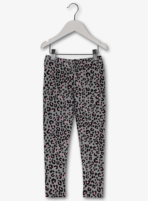c995743e980dc Kids Grey Leopard Print Leggings (3-14 Years) | Tu clothing