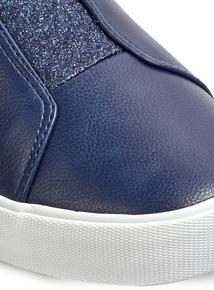 Navy Glitter Skater Shoe