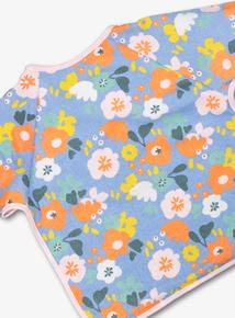 Multicoloured Floral Bib (One Size)
