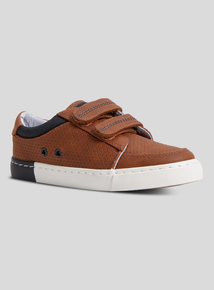 Tan Twin-Strap Casual Shoes (6 Infant - 4)