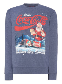 Blue Christmas Coca Cola Crew Sweat