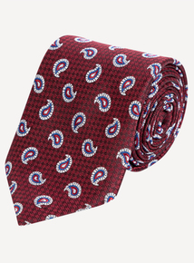 Burgundy Paisley Regular-Fit Tie