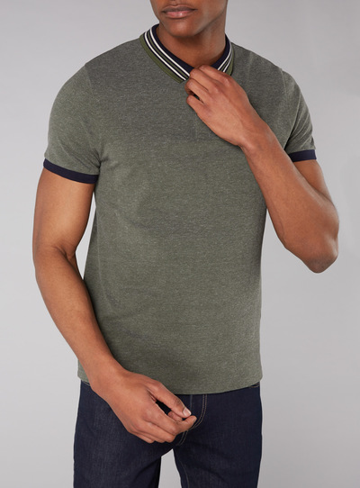 Admiral Khaki Tipped Polo Shirt