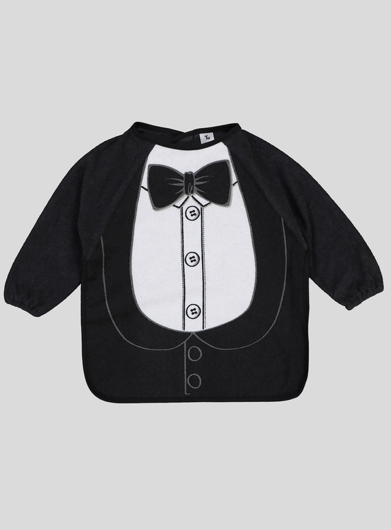 e2389d202 Baby Black Long Sleeve Tuxedo Bib (One Size) | Tu clothing