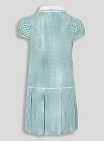Green Sporty Gingham Dress (3-12 years)