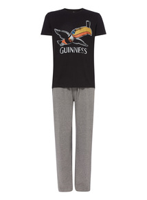 Black Guinness Two Piece Pyjama Set