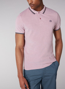 Admiral Pink Tipped Polo Shirt