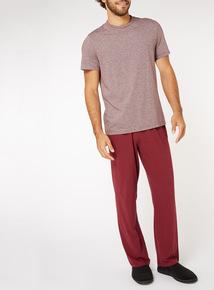 Burgundy Stripe Pyjama Set