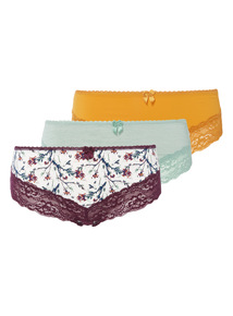 3 Pack Lace Brazilian Briefs