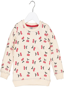 Cream Cherry Pie Sweatshirt (9 months-6 years)