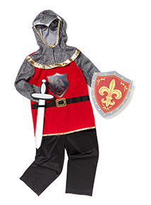 Multicoloured Generic Knight Costume (3-10 years)