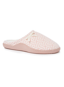 Pink Jacquard Slippers