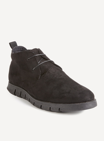 Black Casual Desert Boots