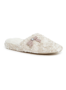 Textured Fluffy Slippers