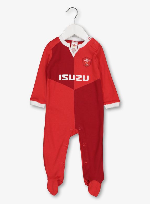 19d0ff9359766 SKU: RUGBY WALES RWC SLEEPSUIT:Red