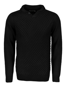 Black Notch Neck Jumper