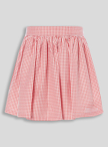 Red Gingham Skirt (3 - 12 years)