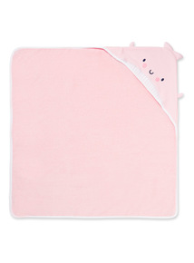 Pink Whale Hooded Towel